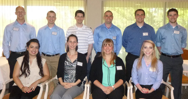 The 2014 AISP interns: (front row, l-r) Sandra Ramirez, Gergana Tsvetkova, Ashley Barak, Meghan Creed, (backrow, l-r) Corey Lettieri, Tim Reichert, Tim Martin, Michael Bolnick, Sean Tews and Matt Wydra.